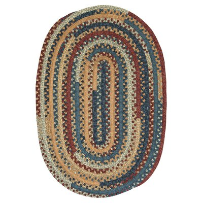 Market Mix Oval Summer Area Rug Rug Size: Round 10