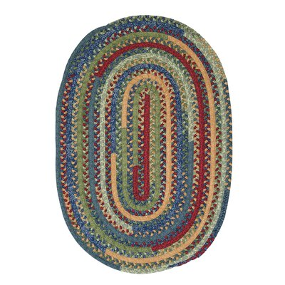 Market Mix Oval Sea Area Rug Rug Size: Round 4'