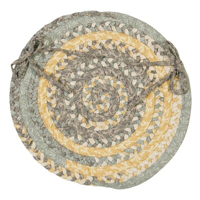 Print Party Ovals Dining Chair Cushion Color: Shaded Yellow