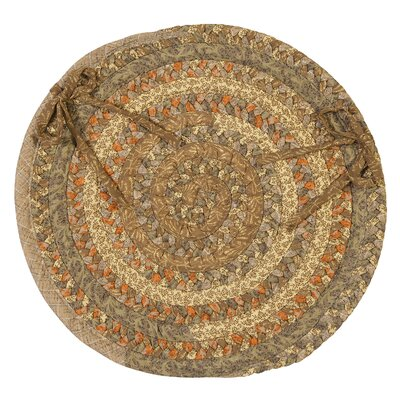 Print Party Ovals Dining Chair Cushion Color: Rusted Vine