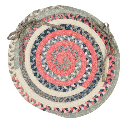 Print Party Ovals Dining Chair Cushion Color: Crushed Coral