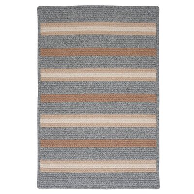 Salisbury Gray Striped Area Rug Rug Size: Square 12