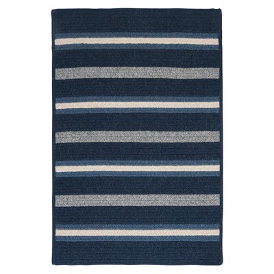 Salisbury Blue Striped Area Rug Rug Size: Square 4'