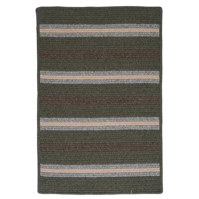 Salisbury Green Striped Area Rug Rug Size: 2 x 4