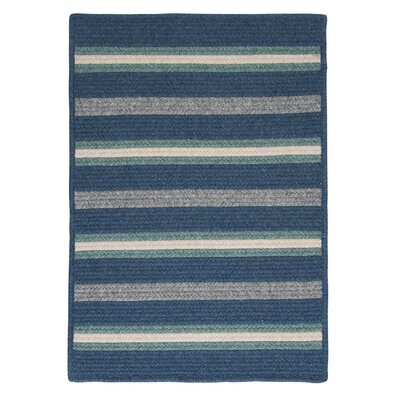 Salisbury Blue Striped Area Rug Rug Size: Square 4