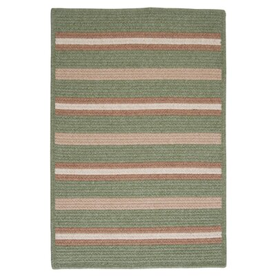 Salisbury Green Striped Area Rug Rug Size: Square 12