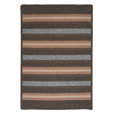 Salisbury Brown Striped Area Rug Rug Size: Square 12