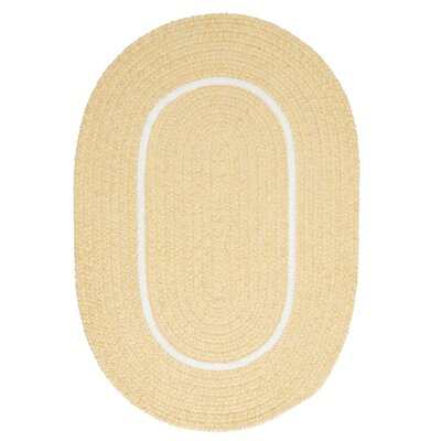 Silhouette Yellow Indoor/Outdoor Area Rug Rug Size: Oval 7 x 9