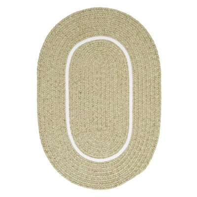 Silhouette Green Indoor/Outdoor Area Rug Rug Size: Oval 2 x 4