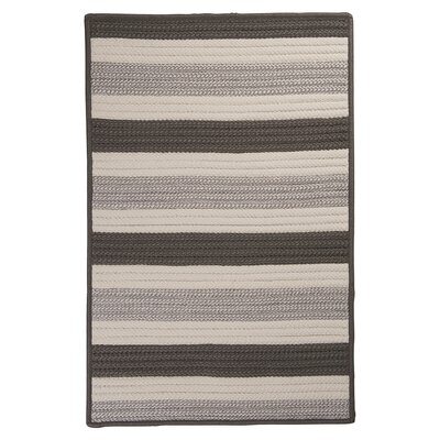 Stripe It Silver Indoor/Outdoor Area Rug Rug Size: 7 x 9
