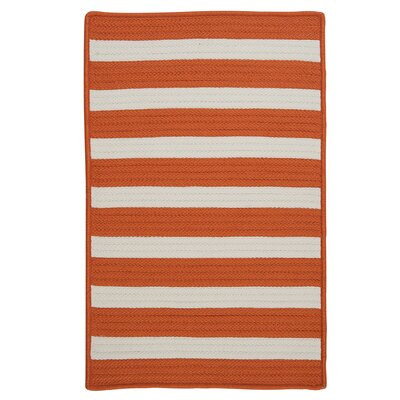 Stripe It Tangerine Indoor/Outdoor Area Rug Rug Size: Square 10