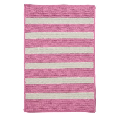 Stripe It Bold Pink Indoor/Outdoor Area Rug Rug Size: Square 4