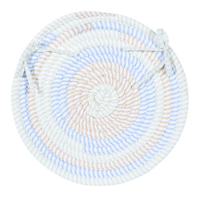 Colonial Mills, Inc. Ticking Stripe Oval Chair Pad (Set of 4) - Color: Starlight at Sears.com