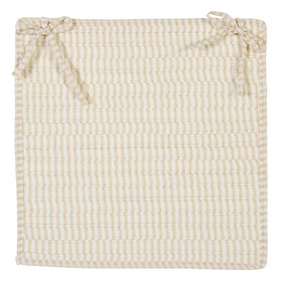 Ticking Stripe Chair Pad Color: Canvas