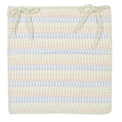 Ticking Stripe Chair Pad Color: Starlight