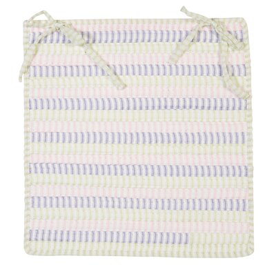 Ticking Stripe Chair Pad Color: Dreamland