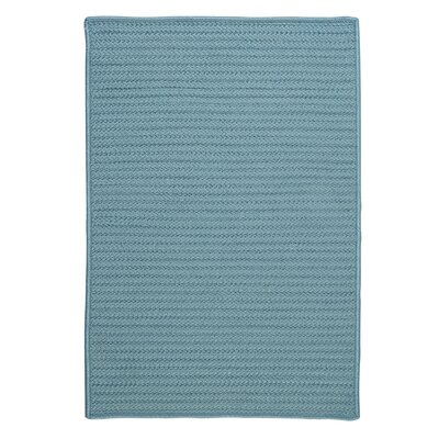 Simply Home Solid Blue Indoor/Outdoor Area Rug Rug Size: Runner 2 x 8