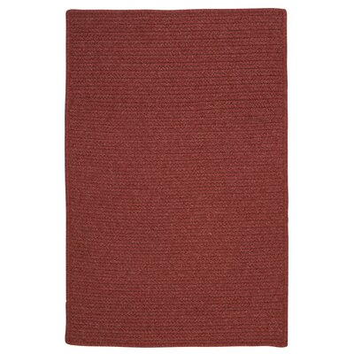 Westminster Rosewood Area Rug Fringe: Included, Rug Size: Square 10
