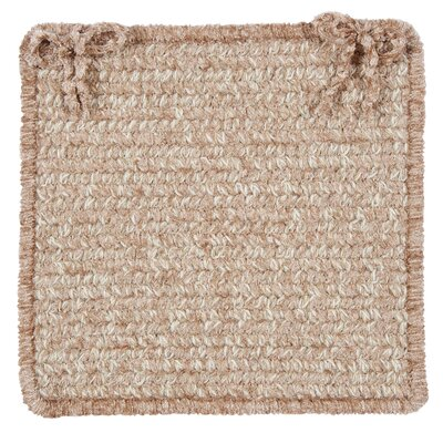 Texture Woven Dining Chair Cushion Color: Buff Blend