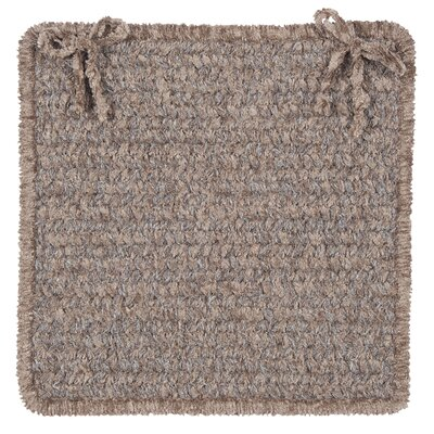 Texture Woven Dining Chair Cushion Color: Rich Brown