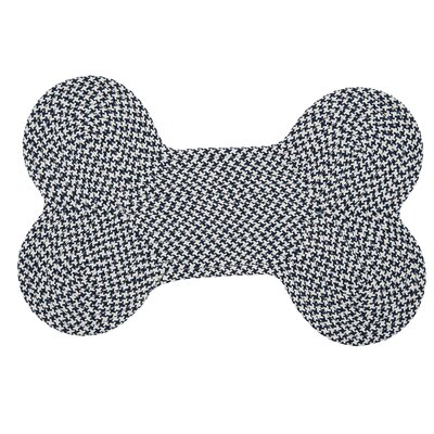 Dog Bone Houndstooth Bright Pet Doormat Mat Size: Bone 22 H x 34 W, Color: Navy