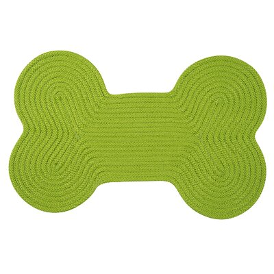 Dog Bone Solid Doormat Rug Size: Bone 18 H x 30 W, Color: Bright Green