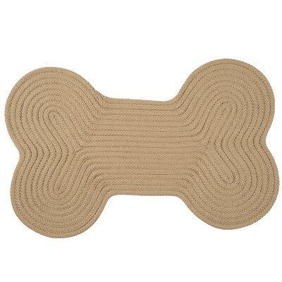 Dog Bone Solid Doormat Mat Size: Bone 18 H x 30 W, Color: Sand