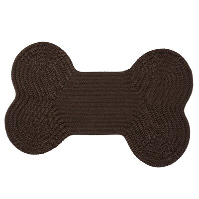 Dog Bone Solid Pet Doormat Rug Size: Bone 18 H x 30 W, Color: Mink