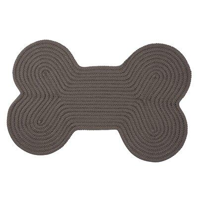 Dog Bone Solid Doormat Mat Size: Bone 18 H x 30 W, Color: Gray