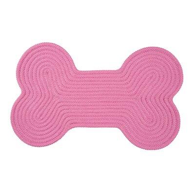 Dog Bone Solid Doormat Mat Size: Bone 18 H x 30 W, Color: Pink