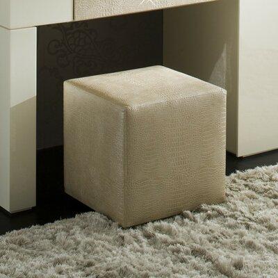 Diamond Ottoman Upholstery: Ivory
