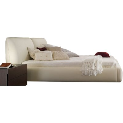 New Pavo Upholstered Platform Bed Size: King, Finish: Beige