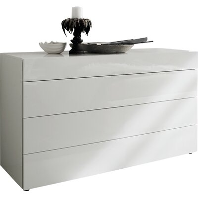 Start 3 Drawer Dresser Finish: White