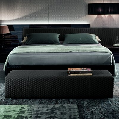 Nightfly Platform Bed Size: Queen, Color: Ebony