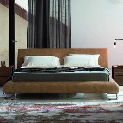 Lotto Upholstered Platform Bed Size: Queen, Color: Tabacco