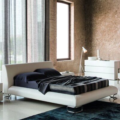 Lotto Upholstered Platform Bed Size: King, Color: White