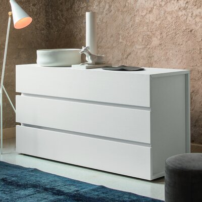 Gola 3 Drawer Dresser Color: White Matrix