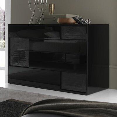 Nightfly 4 Drawer Dresser Color: Black
