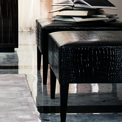 Divine Pouf Ottoman Upholstery: Black