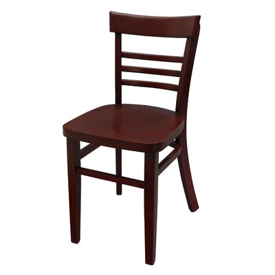 Side Chair Finish: Mahogany