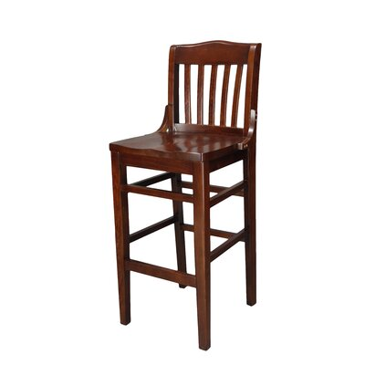 Schoolhouse 30 Bar Stool Finish: Walnut