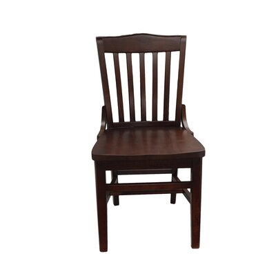 Schoolhouse Solid Wood Dining Chair Finish: Walnut