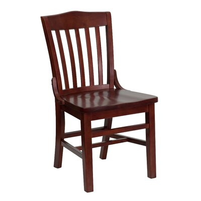 Schoolhouse Solid Wood Dining Chair Finish: Mahogany