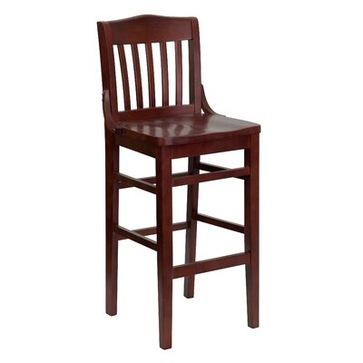 Schoolhouse 30 Bar Stool Finish: Mahogany