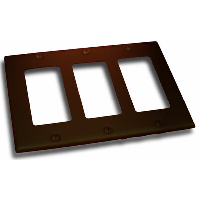 Triple GFI Plate Finish: Venetian Bronze