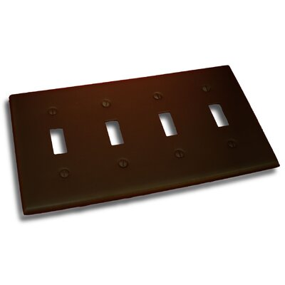 Quadruple Switch Plate Finish: Venetian Bronze