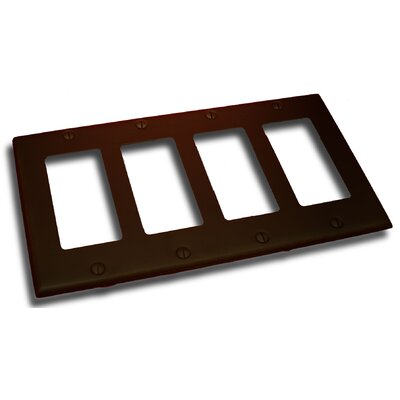 Quadruple GFI Plate Finish: Venetian Bronze