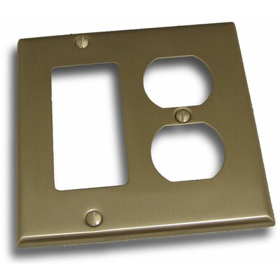 Double GFI and Recep Plate Finish: Satin Nickel