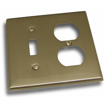 Double Switch and Receptacle Plate Finish: Satin Nickel
