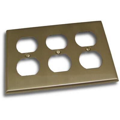 Triple Recep Plate Finish: Satin Nickel